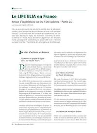 De Voghel 2014 Le LIFE ELIA en France Retour dexpériences sur l