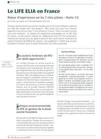 De Voghel and Bauffe Christophe 2014 Le LIFE ELIA en France Retour dexpériences sur l